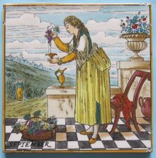Antique Copeland Aesthetic Calendar Tile - September