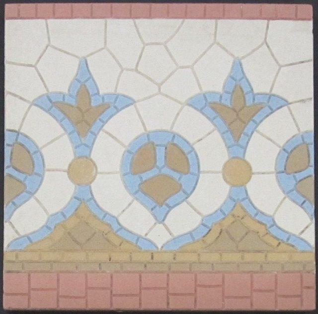 Antique American Encaustic Encaustic Porcelain Floor Tile-3 available