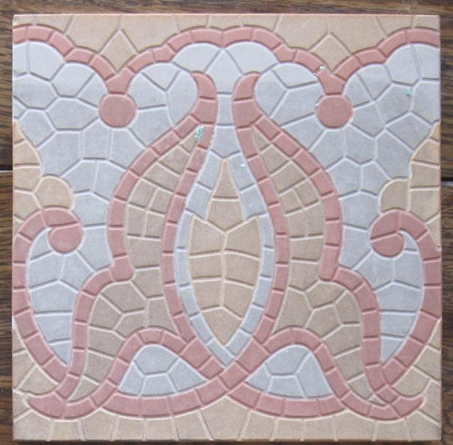 Antique American Encaustic Encaustic Porcelain Floor Tile-3 available