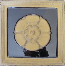 Massive Antique American Grueby Architectural Tile - 9 available