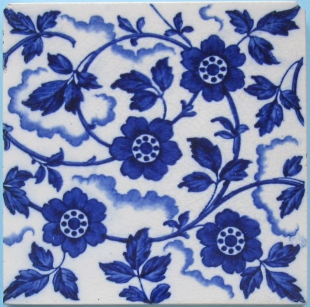 Antique English Wedgwood Transfer Tile - 4 available