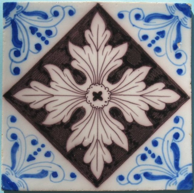 Late 19th Century Dutch Tin-Glaze Tile