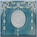 Antique Belgian Art Nouveau Tile - Helman