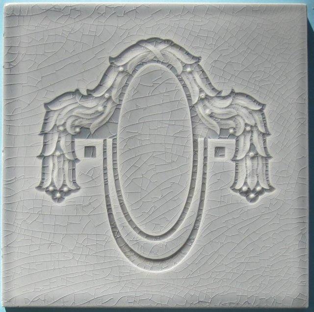 Antique Belgian Art Nouveau Tile - Helman Gray