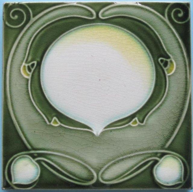 Antique Art Nouveau Tile  - Villeroy & Boch