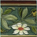 Antique Pair of Art Nouveau Tiles  - Villeroy & Boch