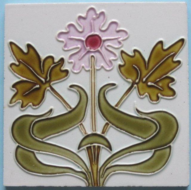 Antique Belgian Art Nouveau Tile