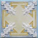 Antique Belgian Art Nouveau Tile - Pavillions Deco