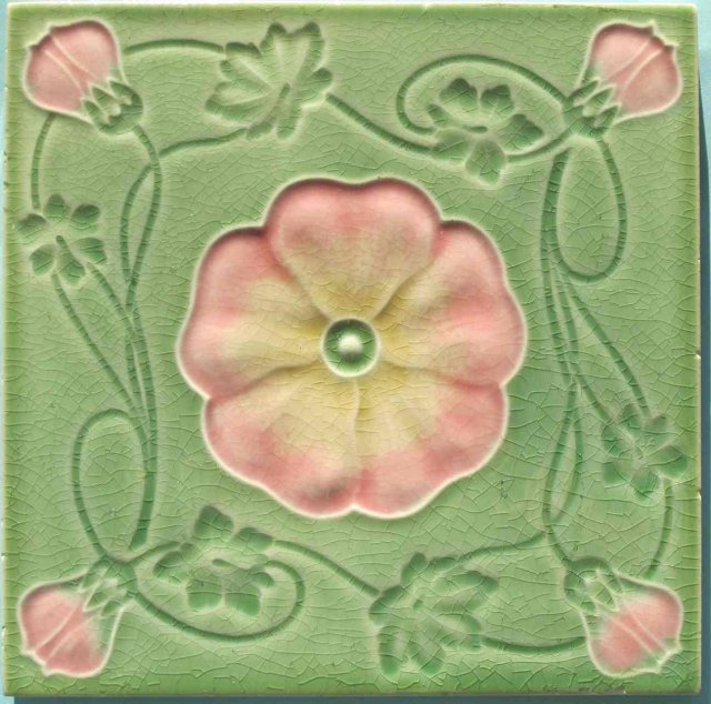 Antique German Jugendstil Tile - MO & PF v. CT Meissen