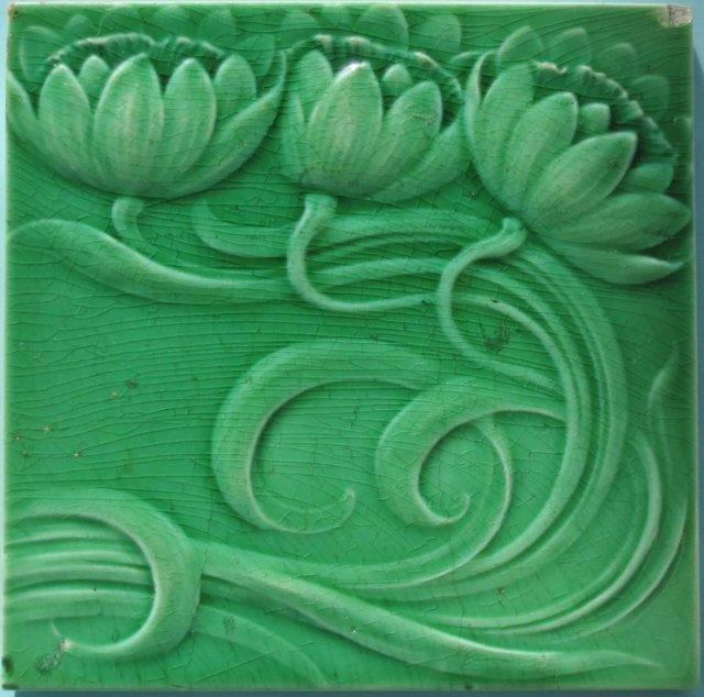 Pair of Antique German Jugendstil Tiles - SOFvETM