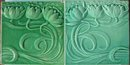 Pair of Antique German Jugendstil Tiles - SOFvETM
