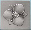 Antique German Jugendstil Tile - Gray SOFvETM