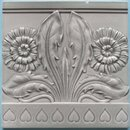 Antique German Jugendstil Tile - Meissen Double Dandelion