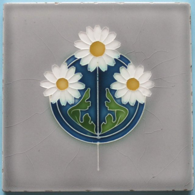 Antique German Jugendstil Tile - Ostara