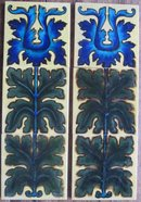 Pair of Antique English Arts & Crafts Fireplace Panels - Maw