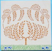 Antique German Art Nouveau/Jugendstil Tile - Grohn