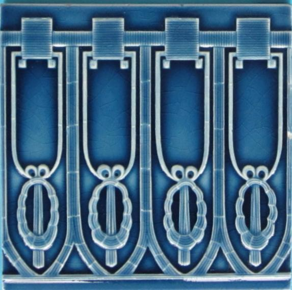 Antique German Nouveau/Jugendstil Tile - NSTG Grohn