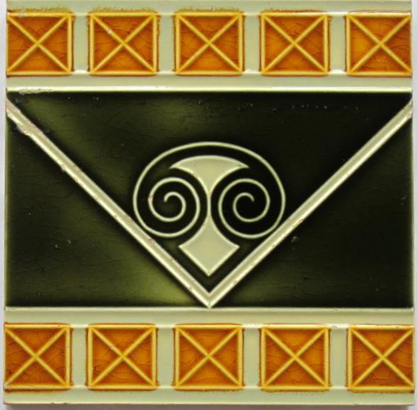 German Jugendstil Tile - Abstract Capital