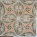 Antique German Jugendstil Tile Panel - Tonwerke Offstein