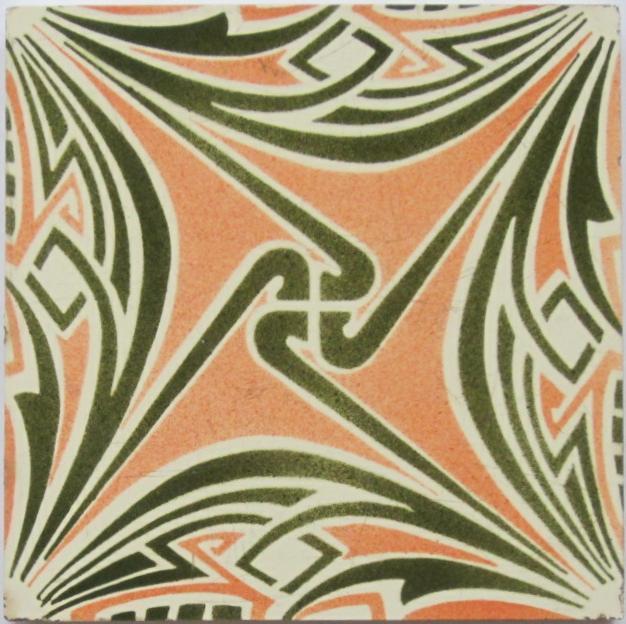 Antique German Jugendstil Tile Panel - Tonwerke Offstein