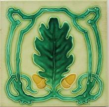 Antique German Art Nouveau/Jugendstil Tile