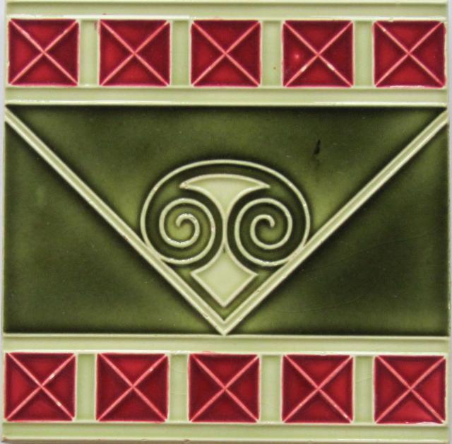 German Jugendstil Tile - Abstract Capital