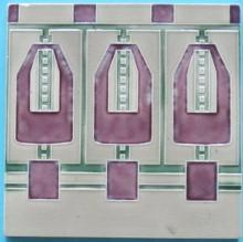 Antique German Jugendstil Tile - Meissen Ernst Teichert