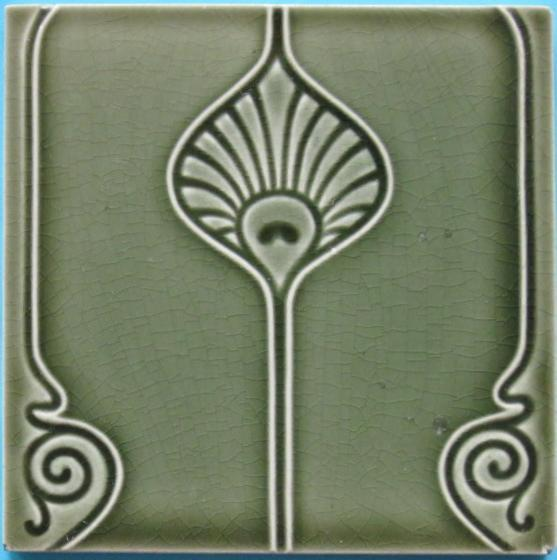 German Art Nouveau/Jugendstil Tile