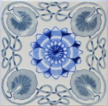Antique German Jugendstil Tile - Wessel