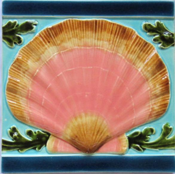 Antique French Art Nouveau Tile