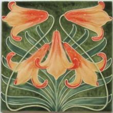 Antique French Art Nouveau Tile