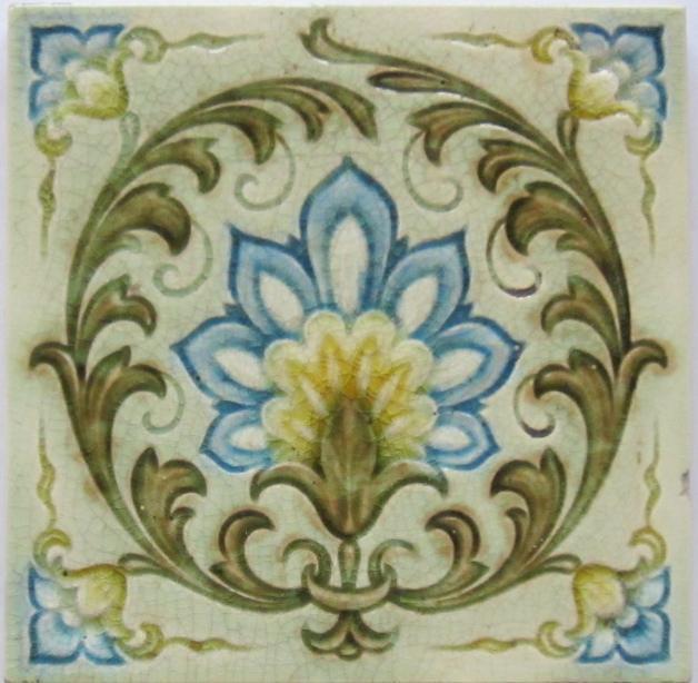 Antique English Victorian/Art Nouveau Tile - Minton's China