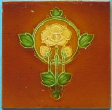 English Art Nouveau Tile - Simpson