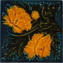 Antique English Art Nouveau Tile - Pilkington's
