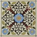 Antique English Transfer/Hand-Tinted Tile - Sherwin & Cotton