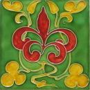 Antique English Nouveau Tile - Craven Dunnill