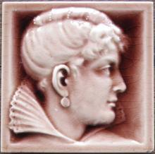 Antique American Portrait Tile - AETCO