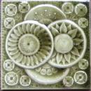 Antique American Majolica Arts & Crafts Tile - AETCO