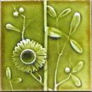 Antique American Arts & Crafts Majolica Fireplace Tile - J.& J.G. Low