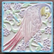 Rookwood Parrot Tea Tile - Rookwood