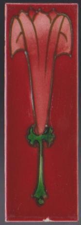 Antique English Art Nouveau Tubelined Tile -Richards