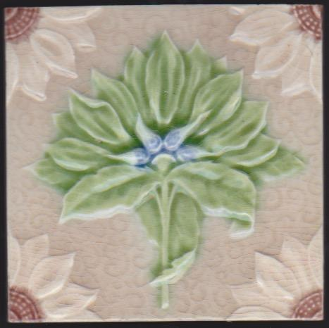 English Art Nouveau Tile - Alfred Meakin