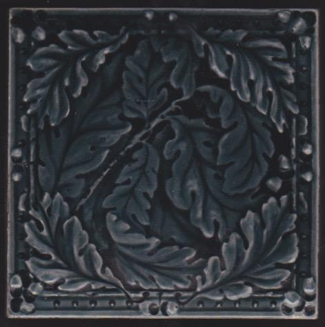 Antique English Art Nouveau Tile - Sherwin & Cotton
