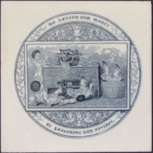 Antique Josiah Wedgwood & Sons Picture Tile