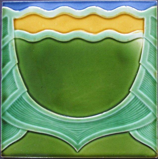 German art nouveau/jugendstil tile