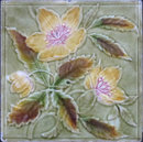 English Majolica Tile -