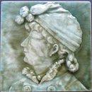 American Art Portrait Tile- Trent