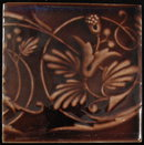 Antique American Fireplace Tile Panel - Kensington