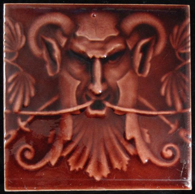 Antique American Fireplace Tile Panel - Kensington