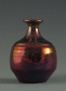 Fabulous Pewabic Pottery Iridescent Cabinet Vase